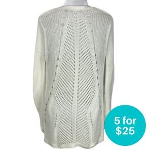 5/$25 - Dex Cardigan Open Knit Off White Size XS